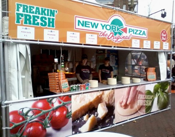 Proef-eet New york Pizza de Letterconcurrent