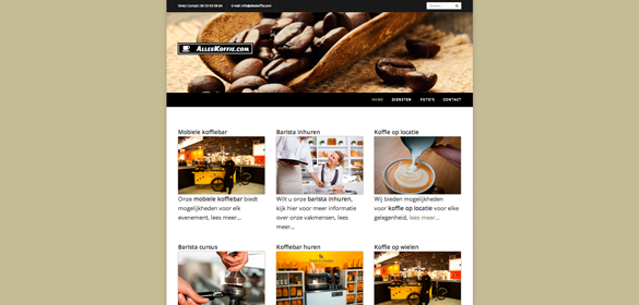 Website alles koffie